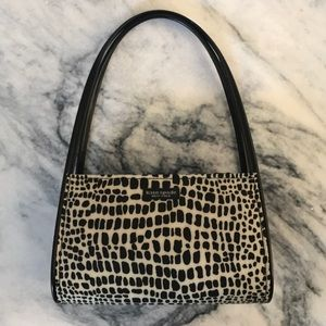 Black and white kate spade purse